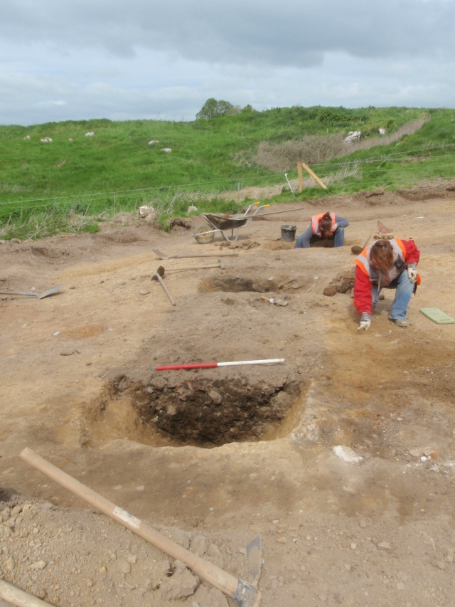 Archaeologists digging a medieval ditch at Caherduggan