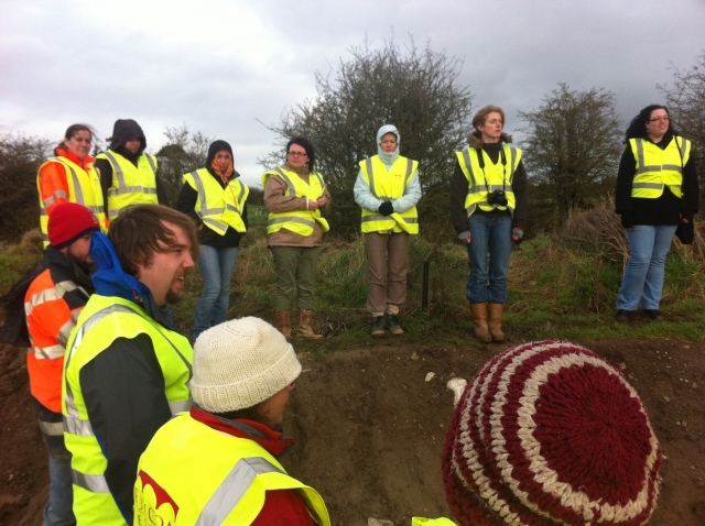The staff keep their mind of the near-Arctic conditions as they listen to hardened combat supervisor Steve describe the finds from the well