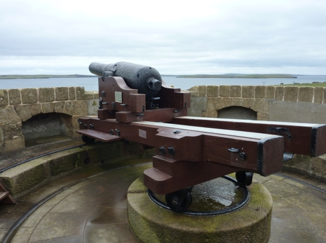The Artillery Piece atop Hackness Martello Tower